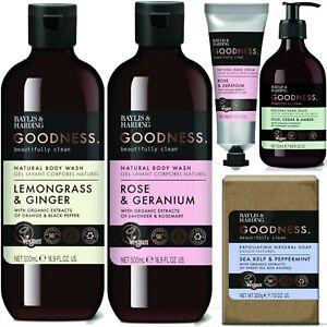 Baylis & Harding GOODNESS Hand Wash Shower Gel & Bath Body Soak Range 500ml