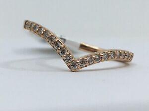 14K Rose Gold 1/5 CTW Round Diamond Fashion Ring sz 6.75 (SB1068918)