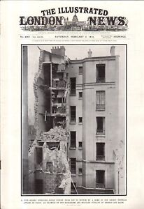 1916 London News February 5 - Zeppelin attack on Paris; U.S. Sea power; Quakers