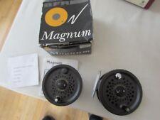"V good vintage leeda magnum 140D salmon fly fishing reel 4"" size boxed + spool"