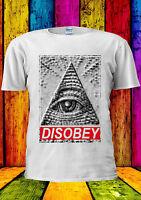 Illuminati Eye Mason Pyramid DISOBEY T-shirt Vest Tank Top Men Women Unisex 1756
