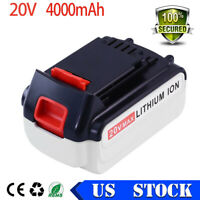 20V 4.0Ah Max Lithium Ion Replace for Black and Decker 20V Battery LBX20 LBX20