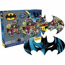 DC Comics Batman Logo & Collage Double Sided 600pc Puzzle From Mr Toys