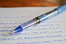 12 x Pilot Hi-Tec Point V5 0.5mm Fine Liquid Ink Rollerball Pen BLUE Non toxic