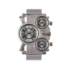 Esfera de un reloj deportivo de doble movimiento de zona horaria de los hombres