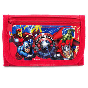 Marvel Avengers Authentic Licensed Trifold Red Wallet for Children