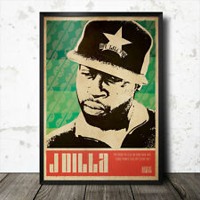 J Dilla Hip hop Art Poster Affiche Musique rap MF Doom Flying Lotus MOS DEF commune Madlib