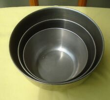 Vintage Stainless Steel Mixing Bowls