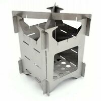 Outdoor Stainless Steel Portable Folding Wood Stove Camping Picnic Wood Stove