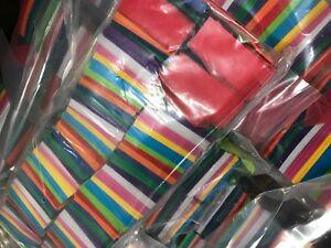 Multicolor Tissue Confetti 1 Pound Brick Rectangular Flame Retardant
