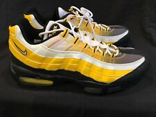 "BRAND NEW RARE Nike Air Max 95 ""Bumble Bee"" Yellow Black White Sz 12 steelers 97"