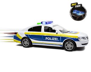 Polizeiauto mit Sirene und Blinklicht Spielzeug Autos Modellauto inkl. Batterien