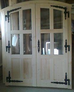 Einbau-Holz-Tür  «Doppeltür nach Goralenart» für 90 mm Wandstärke