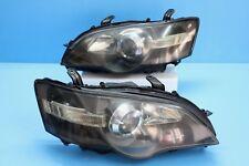 JDM Subaru LIBERTY BPE BP5 BL5 STI HID BLACK Head Light Lamps LEGACY 03-05 BLUE