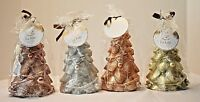 """6"""" Christmas Trees Candles, 4 Piece Set, Assorted Colors, New, Free Shipping!"""