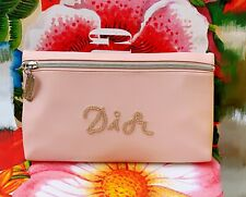 New Dior VIP Gift Large Make Up / Wash/ Clutch Bag Pink Come With Dior Box