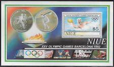Niue 1992 Barcelona Summer Olympics Souvenir Sheet, MNH, Sc #625 - pw1