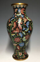 Rare Antique Chinese Cloisonne Gilt Bottle Vase Qing Enamel Flower Trees Prunus