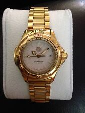 Ladies Tag Heuer 4000 Prof Gold Tone Watch (has new battery and pressure tested)