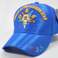 OES , O.E.S. Order of the Eastern Star, MASONIC, MASON ONE SIZE CAP ROYAL BLUE