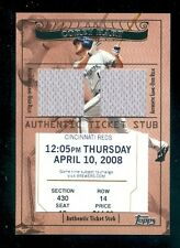 2009 Topps Ticket to Stardom Ticket Stub Plus Memorabilia Dual Corey Hart