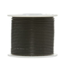 "18 AWG Gauge Solid Hook Up Wire Black 100 ft 0.0403"" UL1007 300 Volts"