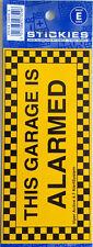 "Auto Sticker Decal Vinyl - ""This Garage is Alarmed"""