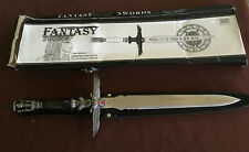 "ORNATE FANTACY  18"" TEMPLE SWORD (D541)  ETCHED DESIGN ON BLADE"