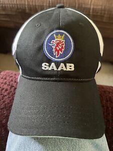 SAAB  Baseball Cap / Saab Hat. Cotton.black Adjustable size