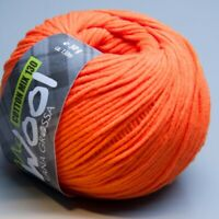 Lana Grossa McWool Cotton Mix 130 - 125 vibrant orange 50g (5.90 EUR pro 100g)