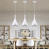 3X Bar Lamp White Pendant Lights Kitchen Chandelier Lighting Hotel Ceiling Light