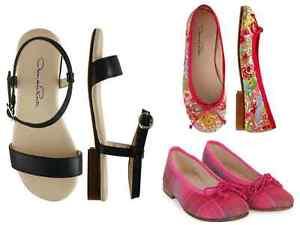 NIB $165 Oscar De La Renta Girl Flats Sandals Shoes (Size EU 24, 25, 26, 27, 29)