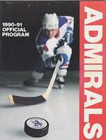 1990 HOCKY PROGRAM - MILWAUKEE ADMIRALS vs PEORIA RIVERMEN - IHL