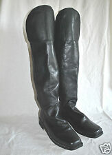 Knee Flap Boots  - Size 11 - Black Leather - Civil War