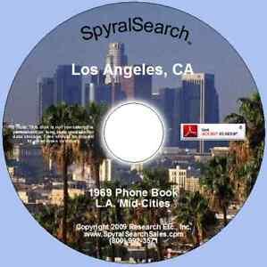 CA - Los Angeles Mid-Cities 1969 Phone Book CD