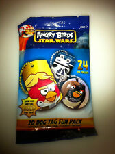 2013 Roxio Star Wars Angry Birds Dog Tags Chain Pack of 4 Free Shipping NIP