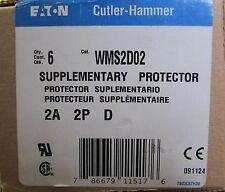 EATON CUTLER HAMMER Circuit Breaker 2 Amp 2 Pole WMS2D02 *PRICE PER BREAKER*