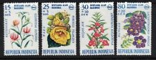 Indonesia 1966 - Flowers  - National Disaster Fund (4) MUH