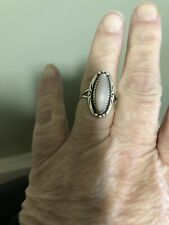 Vintage Native American Sterling Mother Of Pearl Ring Beautiful
