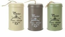 More details for vintage style metal twine tin garden - 3 colours - 100m twine new