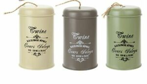 Vintage Style Metal Twine Tin Garden - 3 Colours - 100m Twine NEW