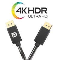 Cable DisplayPort 1.4 2M Profesional de Nylon [8K 60Hz 4K 60Hz] - Desde España!