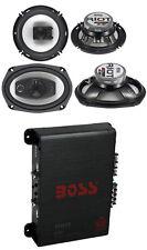 """2) Boss R94 6x9"""" 500W 4 Way Car + 2) 6.5"""" 300W 3 Way Speakers + 400W 4-Ch Amp"""