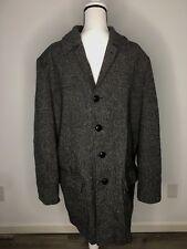 PENDLETON Woolen Mills Men's 5 Button 4 Pocket Wool Tweed Semi Trench Coat 44 L