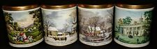 Vintage Currier & Ives Collectible Tin Canisters