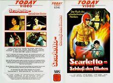 """VHS FSK 18 """" SCARLETTO - Schloß des Blutes ( Der Scharlachrote Henker ) """" (1965)"""