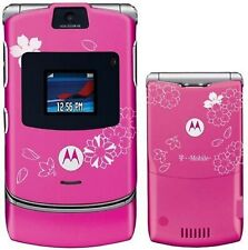 Good! Motorola Razr V3 Cherry Blossom Camera Gsm Flip T-Mobile Cell Phone