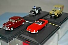JobLot of 1:76 (00 Gauge) Vehicles. E Type, Land Rover, Police & Javelin. VGC