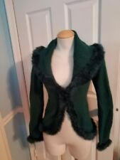 bebe vintage green sweater s.  #890