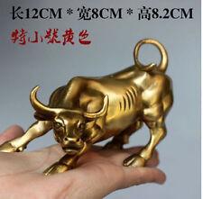 Wall Street Copper Bronze Fierce Bull OX Statue